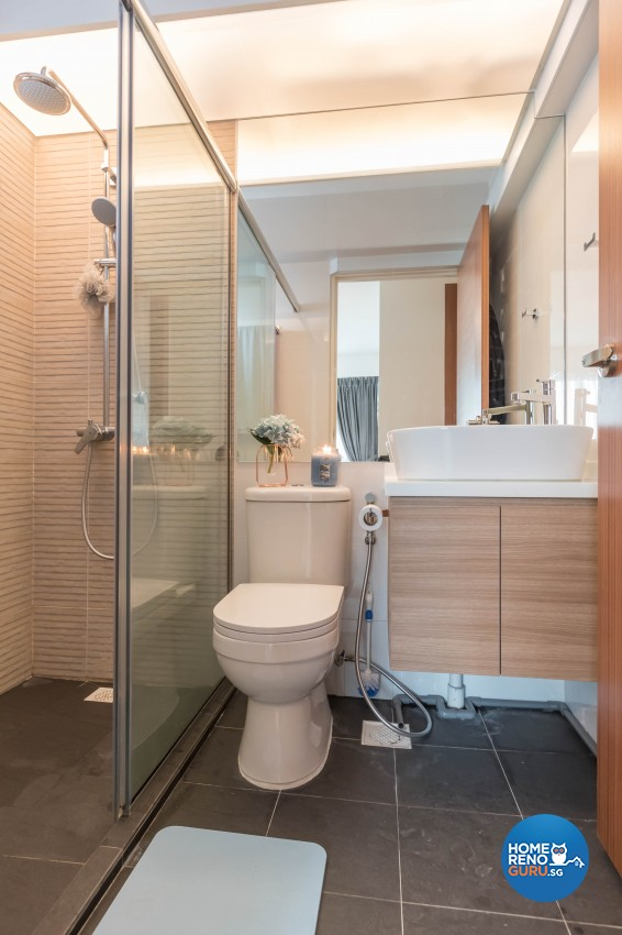 Scandinavian Design - Bathroom - HDB 4 Room - Design by Swiss Interior Design Pte Ltd