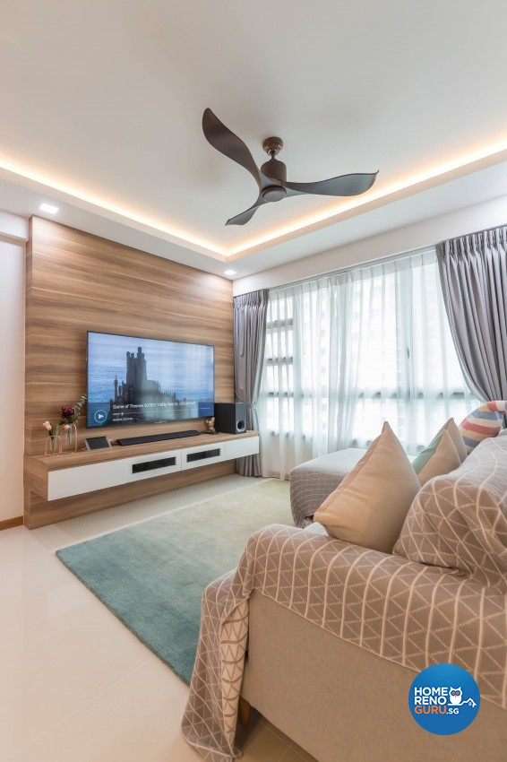 Scandinavian Design - Living Room - HDB 4 Room - Design by Swiss Interior Design Pte Ltd