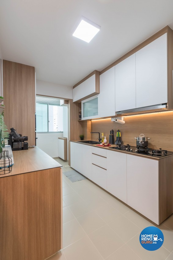 Scandinavian Design - Kitchen - HDB 4 Room - Design by Swiss Interior Design Pte Ltd
