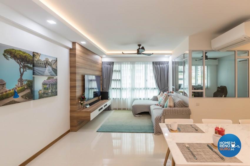 Scandinavian Design - Living Room - HDB 4 Room - Design by Swiss Interior Design Pte Ltd
