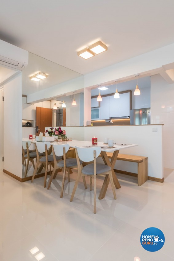 Scandinavian Design - Dining Room - HDB 4 Room - Design by Swiss Interior Design Pte Ltd