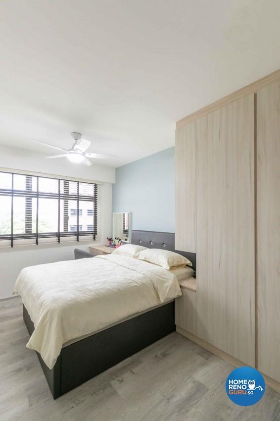 Minimalist, Scandinavian Design - Bedroom - HDB 4 Room - Design by Swiss Interior Design Pte Ltd