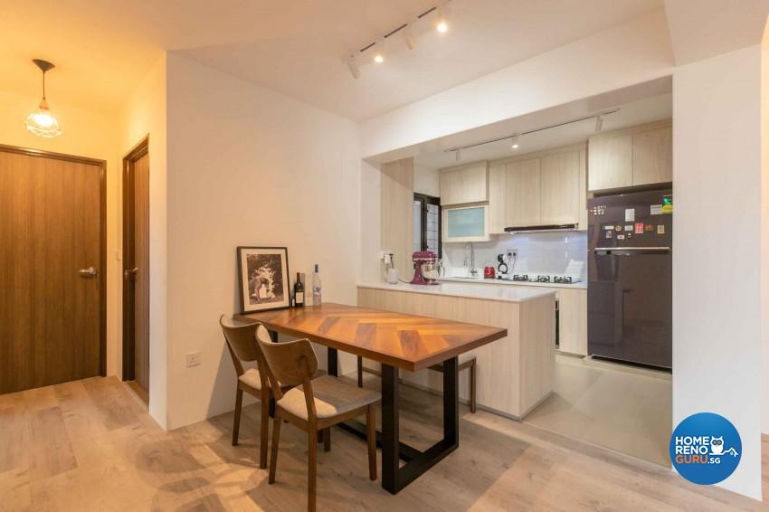 Minimalist, Scandinavian Design - Dining Room - HDB 4 Room - Design by Swiss Interior Design Pte Ltd