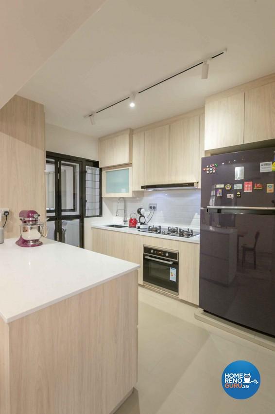 Minimalist, Scandinavian Design - Kitchen - HDB 4 Room - Design by Swiss Interior Design Pte Ltd