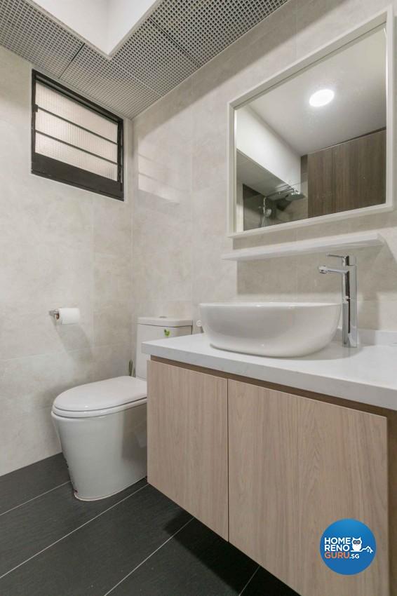 Minimalist, Scandinavian Design - Bathroom - HDB 4 Room - Design by Swiss Interior Design Pte Ltd