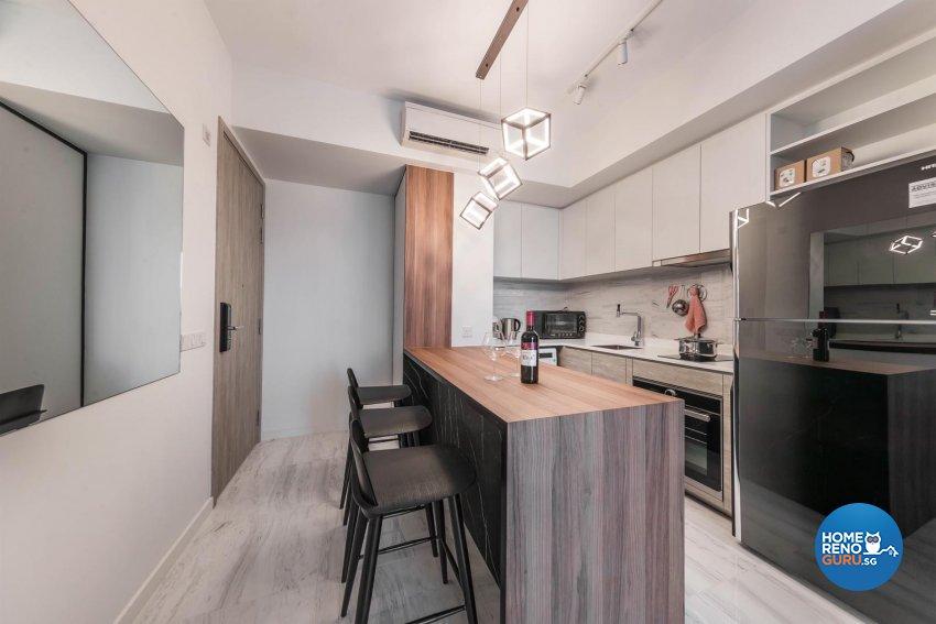 Contemporary, Modern, Scandinavian Design - Kitchen - Condominium - Design by Swiss Interior Design Pte Ltd