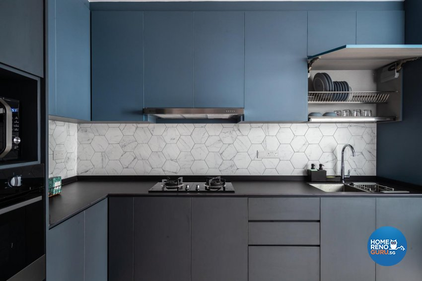 Contemporary, Modern Design - Kitchen - HDB 5 Room - Design by Swiss Interior Design Pte Ltd