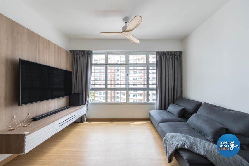 Scandinavian Design - Living Room - HDB 3 Room - Design by Swiss Interior Design Pte Ltd