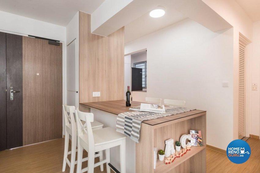 Scandinavian Design - Dining Room - HDB 3 Room - Design by Swiss Interior Design Pte Ltd