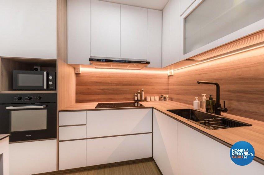 Scandinavian Design - Kitchen - HDB 3 Room - Design by Swiss Interior Design Pte Ltd