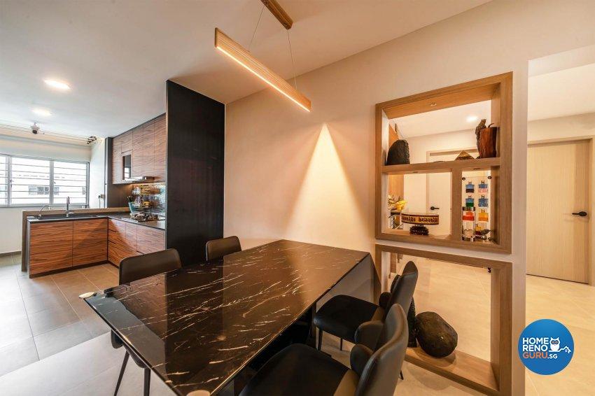Modern, Scandinavian Design - Dining Room - HDB Executive Apartment - Design by Swiss Interior Design Pte Ltd