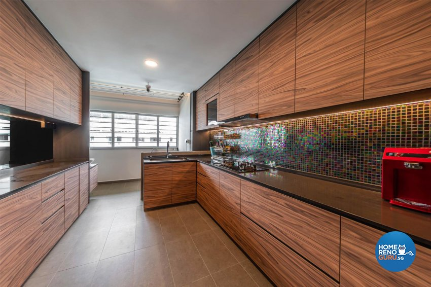 Modern, Scandinavian Design - Kitchen - HDB Executive Apartment - Design by Swiss Interior Design Pte Ltd