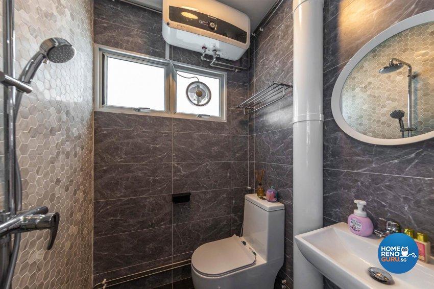 Modern, Scandinavian Design - Bathroom - HDB Executive Apartment - Design by Swiss Interior Design Pte Ltd