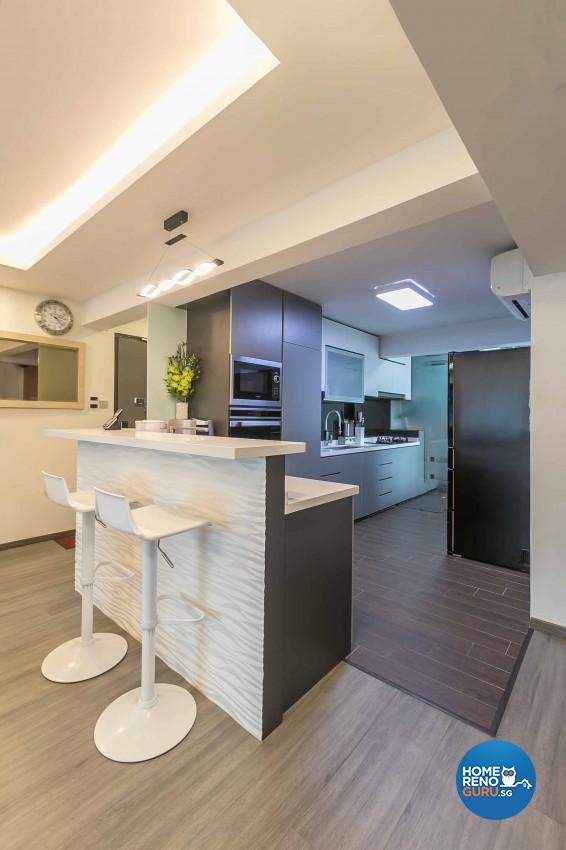 Modern, Scandinavian Design - Dining Room - HDB 5 Room - Design by Swiss Interior Design Pte Ltd