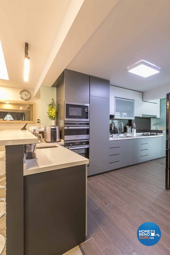 Modern, Scandinavian Design - Kitchen - HDB 5 Room - Design by Swiss Interior Design Pte Ltd
