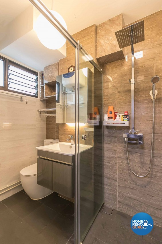 Modern, Scandinavian Design - Bathroom - HDB 5 Room - Design by Swiss Interior Design Pte Ltd