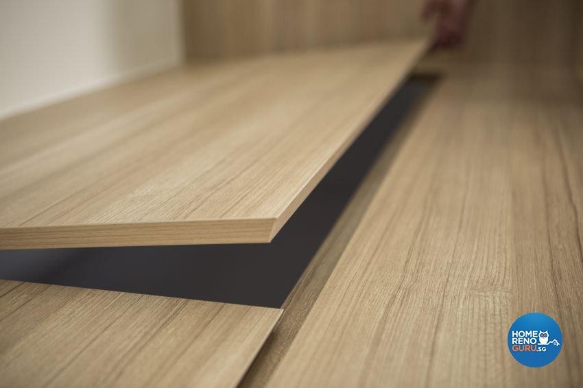 Modern, Scandinavian Design - Study Room - HDB 4 Room - Design by Swiss Interior Design Pte Ltd