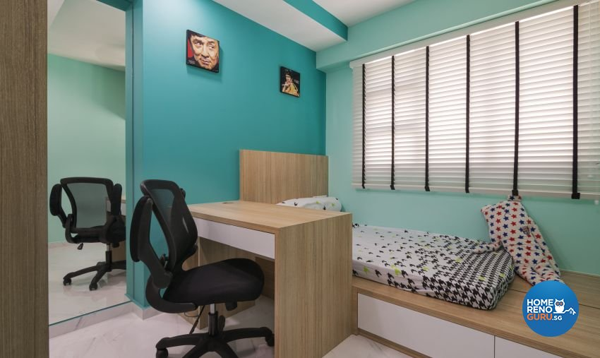 Modern, Scandinavian Design - Bedroom - HDB 4 Room - Design by Swiss Interior Design Pte Ltd