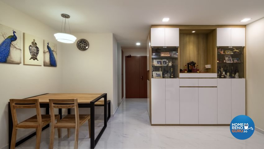Modern, Scandinavian Design - Dining Room - HDB 4 Room - Design by Swiss Interior Design Pte Ltd
