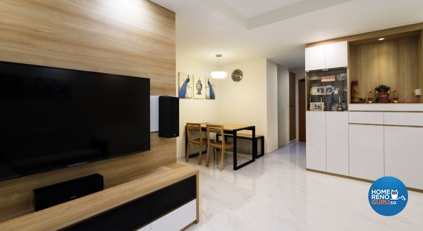 Modern, Scandinavian Design - Living Room - HDB 4 Room - Design by Swiss Interior Design Pte Ltd