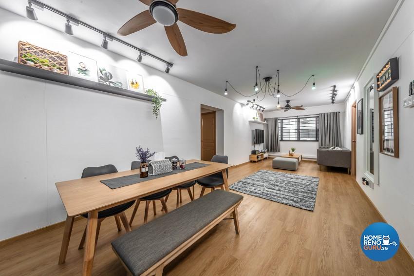 Design - Dining Room - HDB 4 Room - Design by Swiss Interior Design Pte Ltd