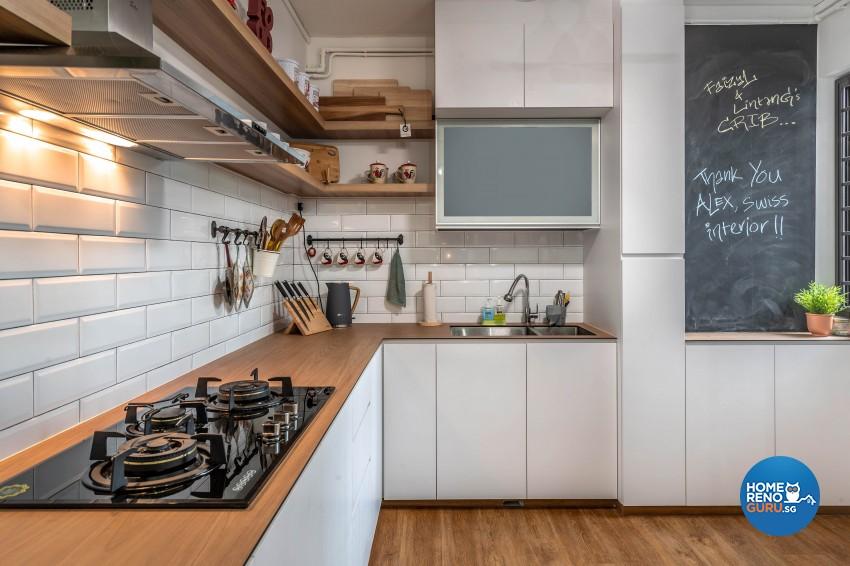 Design - Kitchen - HDB 4 Room - Design by Swiss Interior Design Pte Ltd
