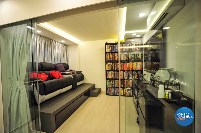 Contemporary Design - Entertainment Room - HDB 5 Room - Design by Swiss Interior Design Pte Ltd
