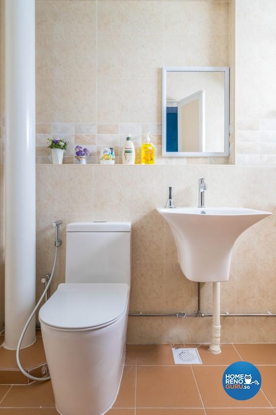 Scandinavian Design - Bathroom - HDB 5 Room - Design by Swiss Interior Design Pte Ltd
