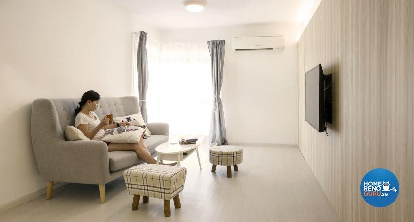 Modern, Scandinavian Design - Living Room - HDB 4 Room - Design by Swiss Interior Design Pte Ltd