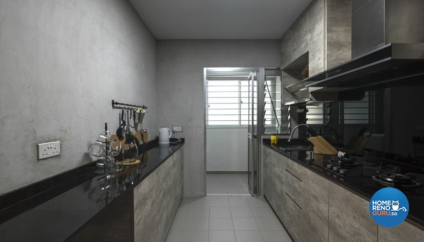 Industrial, Scandinavian Design - Kitchen - HDB 4 Room - Design by Swiss Interior Design Pte Ltd