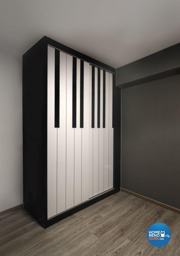 Industrial, Scandinavian Design - Bedroom - HDB 4 Room - Design by Swiss Interior Design Pte Ltd