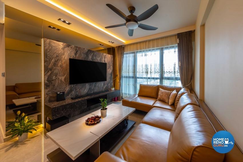 Classical, Modern Design - Living Room - HDB 4 Room - Design by Swiss Interior Design Pte Ltd