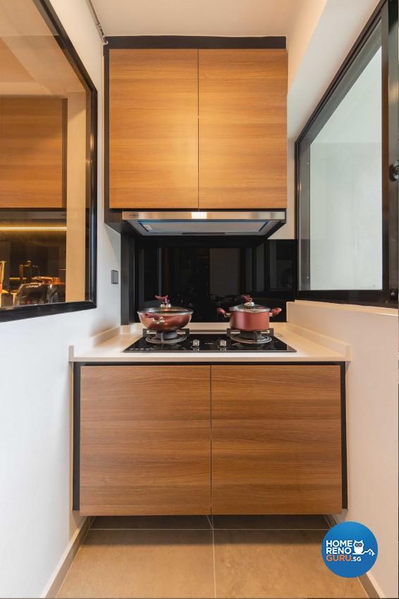 Classical, Modern Design - Kitchen - HDB 4 Room - Design by Swiss Interior Design Pte Ltd