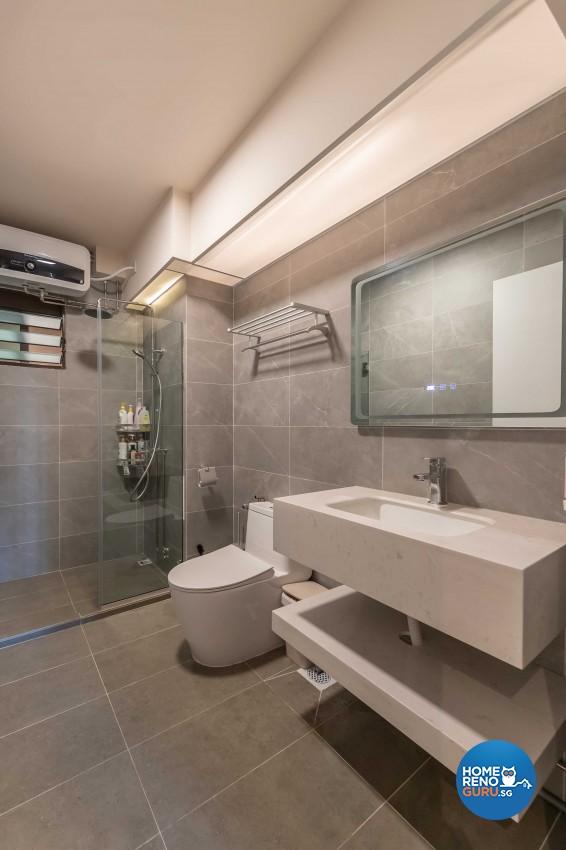 Classical, Modern Design - Bathroom - HDB 4 Room - Design by Swiss Interior Design Pte Ltd