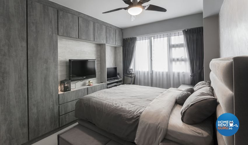 Industrial, Rustic Design - Bedroom - HDB 4 Room - Design by Swiss Interior Design Pte Ltd