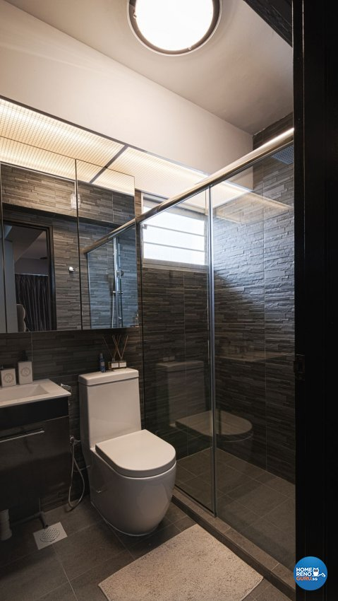 Industrial, Rustic Design - Bathroom - HDB 4 Room - Design by Swiss Interior Design Pte Ltd