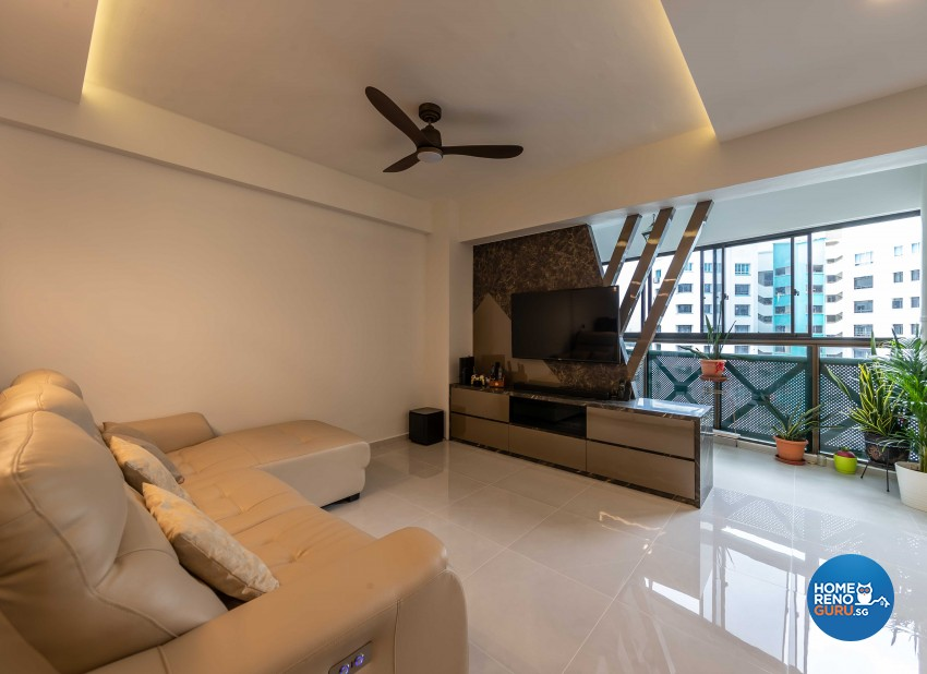 Classical, Modern Design - Living Room - HDB 5 Room - Design by Swiss Interior Design Pte Ltd