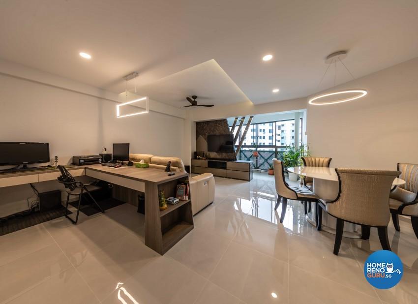 Classical, Modern Design - Living Room - HDB 5 Room - Design by Swiss Interior Design Pte Ltd