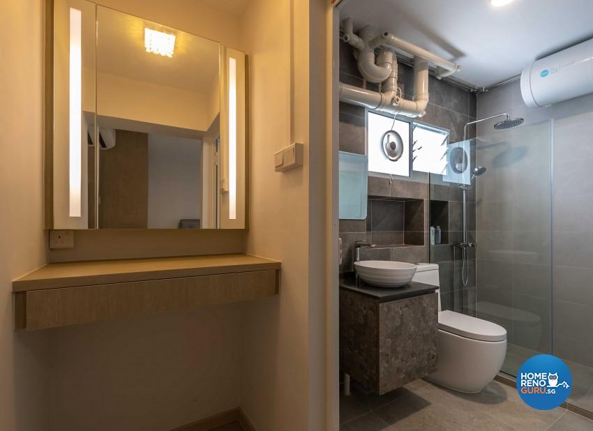 Classical, Modern Design - Bathroom - HDB 5 Room - Design by Swiss Interior Design Pte Ltd