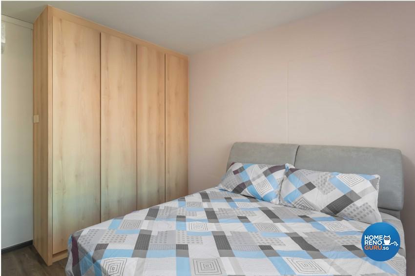 Rustic Design - Bedroom - HDB Executive Apartment - Design by Swiss Interior Design Pte Ltd