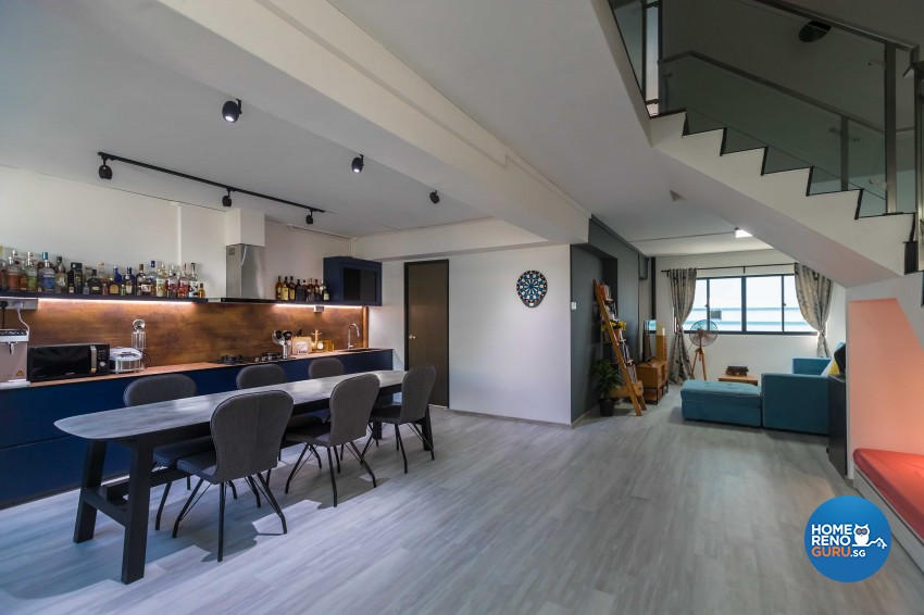 Rustic Design - Dining Room - HDB Executive Apartment - Design by Swiss Interior Design Pte Ltd