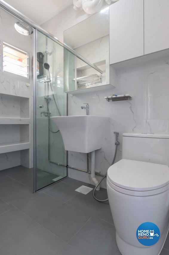 Modern Design - Bathroom - HDB 4 Room - Design by Swiss Interior Design Pte Ltd