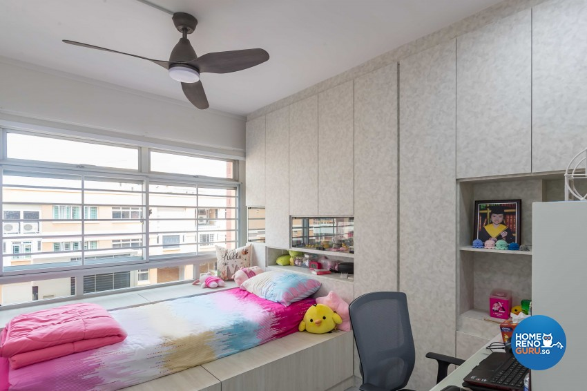 Modern Design - Bedroom - HDB 4 Room - Design by Swiss Interior Design Pte Ltd