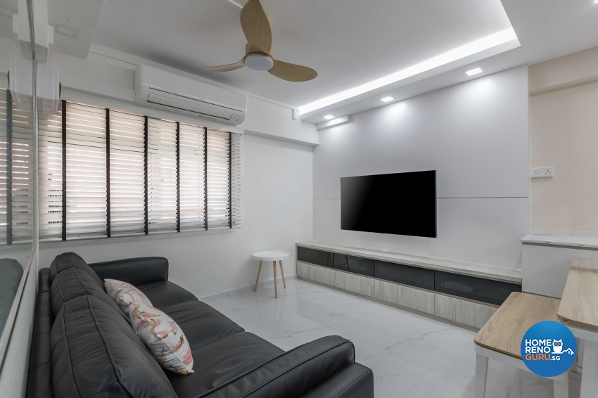 Modern Design - Living Room - HDB 4 Room - Design by Swiss Interior Design Pte Ltd