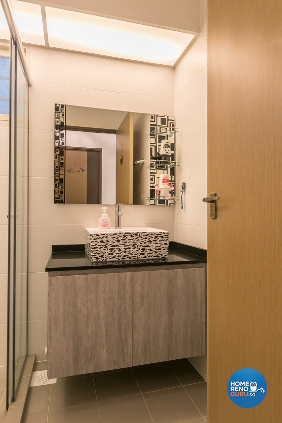 Industrial Design - Bathroom - HDB 3 Room - Design by Swiss Interior Design Pte Ltd