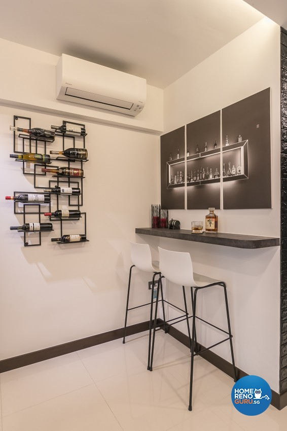 Industrial Design - Dining Room - HDB 3 Room - Design by Swiss Interior Design Pte Ltd