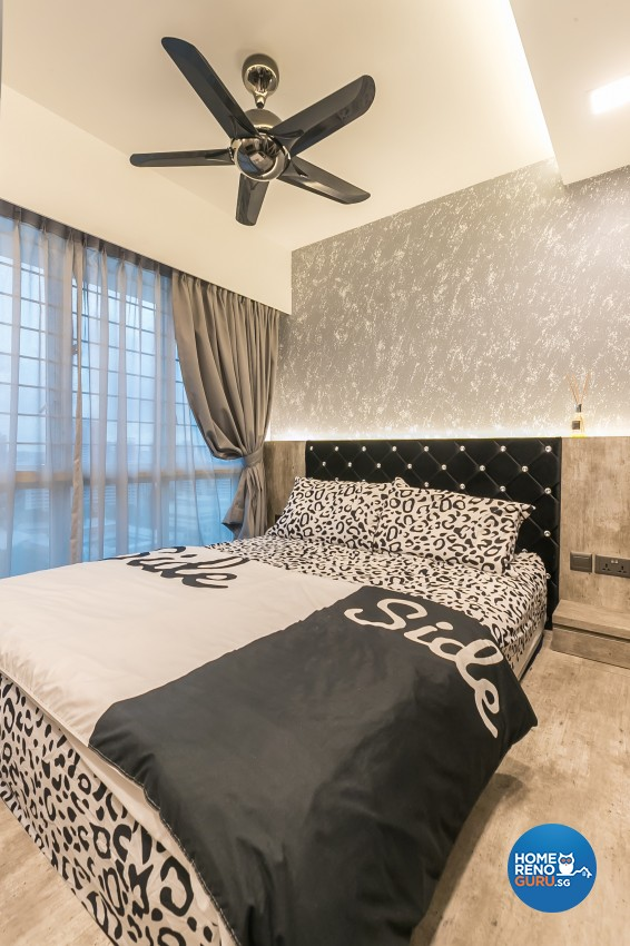 Industrial Design - Bedroom - HDB 3 Room - Design by Swiss Interior Design Pte Ltd