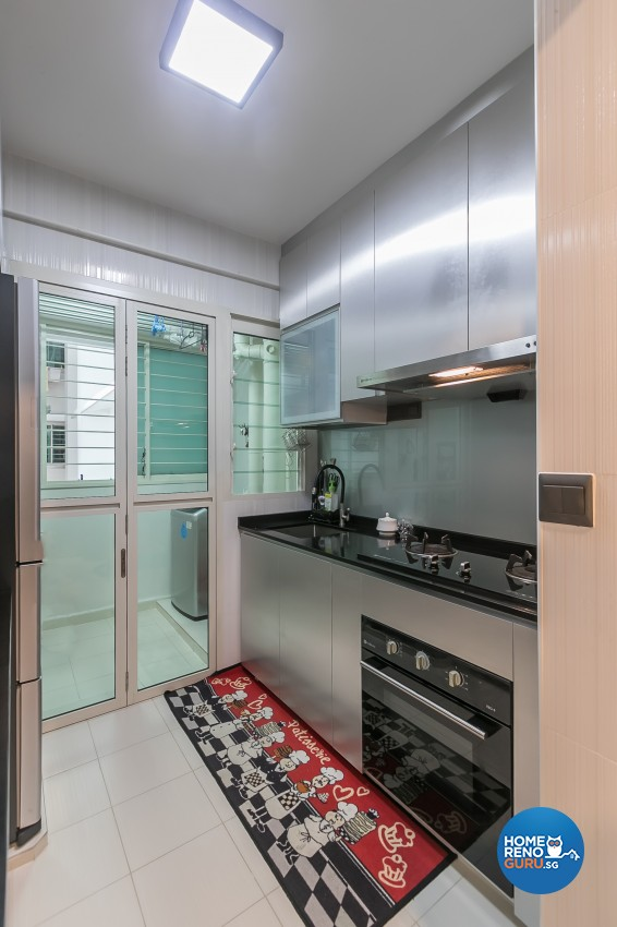Industrial Design - Kitchen - HDB 3 Room - Design by Swiss Interior Design Pte Ltd