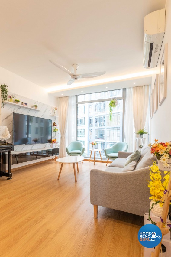 Scandinavian Design - Living Room - Condominium - Design by Swiss Interior Design Pte Ltd