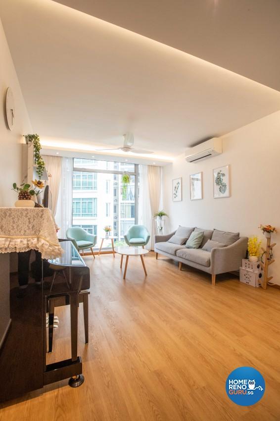 Scandinavian Design - Living Room - Condominium - Design by Swiss Interior Design Pte Ltd